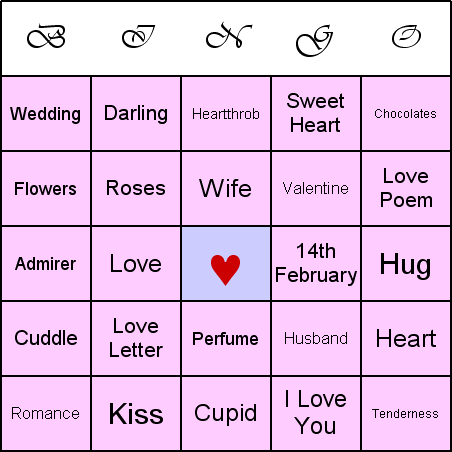 photo relating to Valentines Bingo Cards Free Printable called valentines bingo playing cards Free of charge Valentines Working day Wallpapers